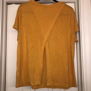 Mustard Yellow Open Back Tee